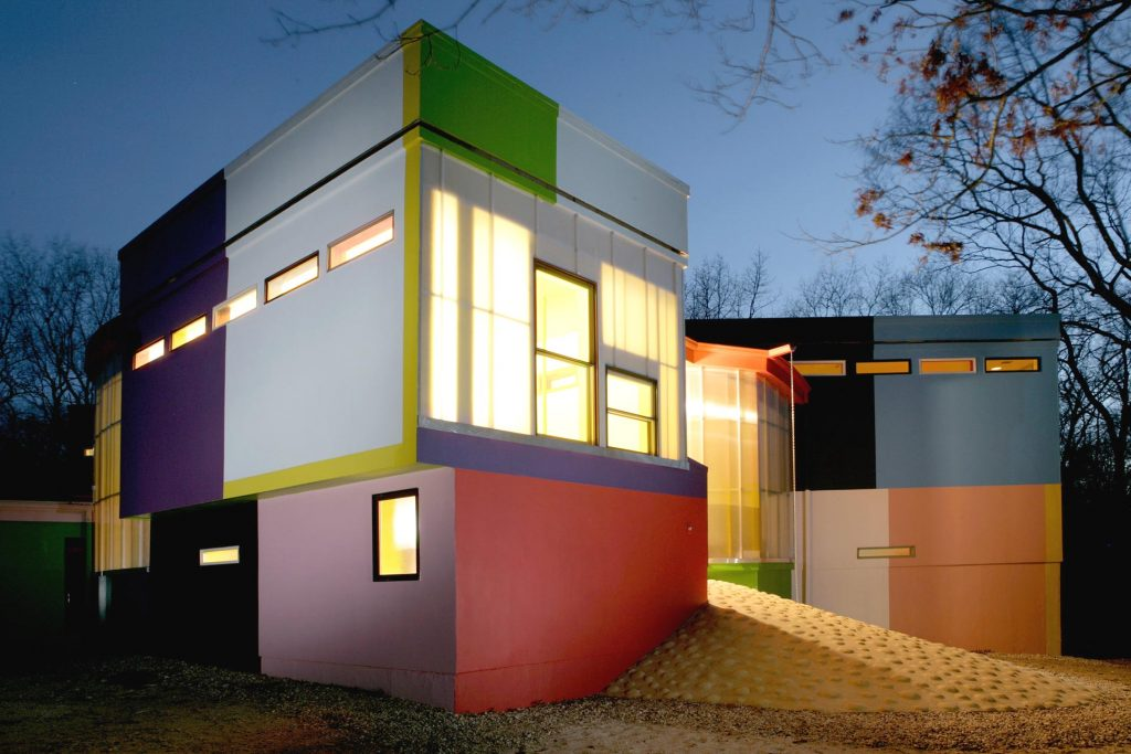 architect en filosofe ontwerpen Bioscleave House
