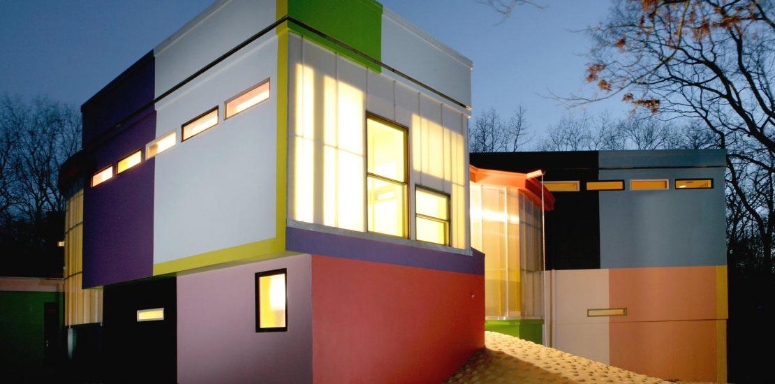 architect en filosofe ontwerpen Bioscleave House