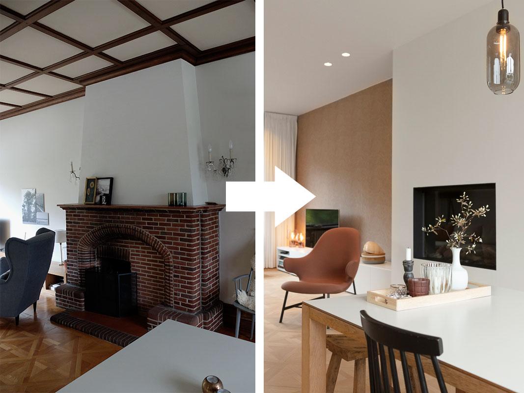 Verbouwing in Mechelen: ruimer wonen met minder oppervlakte - Voor en na