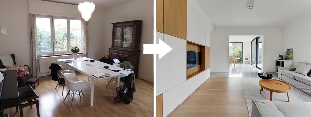 Project T - Aanbouw verbindt woning met tuin - Interieurkabinet - a