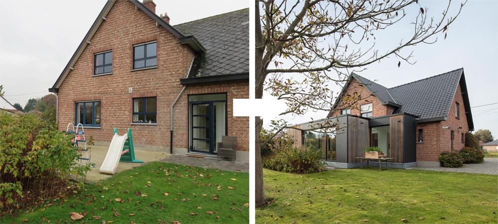 Project T - Aanbouw verbindt woning met tuin - Interieurkabinet - b
